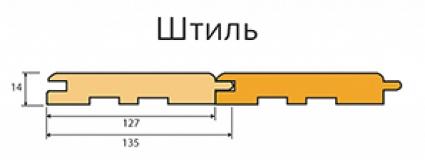Вагонка Штиль