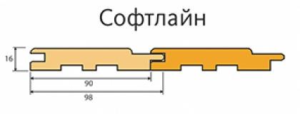 Вагонка Софтлайн