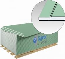 Гипсокартон (ГКЛВ с утоненной кромкой) Гипрок влагостойкий / GYPROK, размер:1200х2500х12.5 мм