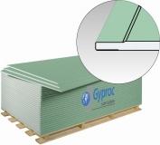 Гипсокартон (ГКЛВ с утоненной кромкой) Гипрок влагостойкий / GYPROK, размер:1200х2500х9.5 мм