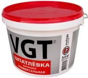 Шпатлевка ВГТ готовая универсальная акриловая 3 кг