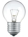 Лампочка электрическая шарик Е27 прозрачная 60 Вт