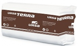 Утеплитель (минеральная вата П-25) URSA TERRA 37 PN 1250х610х50 мм, 20 плит, 15.25 м2