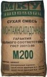 Монтажно-кладочная смесь МКУ М-200 40 кг