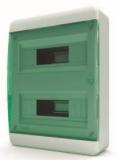 Бокс навесной Tekfor 24 модулей IP40 BNZ 40-24-1 (зеленая прозрачная дверца)