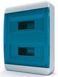 Бокс навесной Tekfor 24 модулей IP40 BNS 40-24-1 (синяя прозрачная дверца)