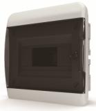Бокс встраиваемый Tekfor 8 модулей IP40 BVK 40-08-1 (чёрная прозрачная дверца)