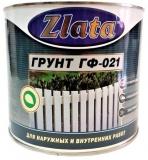 Грунт антикоррозийный по металлу КРАСНО-КОРИЧНЕВЫЙ ГФ-21 Zlata (0.9 л)