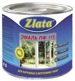 Эмаль Zlata КРАСНО-КОРИЧНЕВАЯ ПФ-115 (0.9 л)