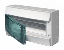 Бокс 18 модулей ABB Mistral IP65 накладной серый зеленая прозрачная дверь с клеммой