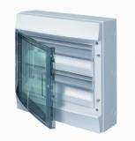 Бокс 24 модуля ABB Mistral IP65 накладной серый зеленая прозрачная дверь с клеммой