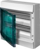 Бокс 36 модулей 2r ABB Mistral IP65 накладной серый зеленая прозрачная дверь с клеммой