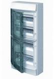 Бокс 48 модулей ABB Mistral IP65 накладной серый зеленая прозрачная дверь с клеммой
