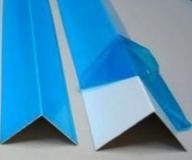 Угол ПВХ белый в защитной пленке 100х100 мм