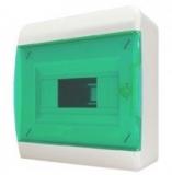 Бокс навесной Tekfor 12 модулей IP40 BNZ 40-12-1 (зелёная прозрачная дверца)