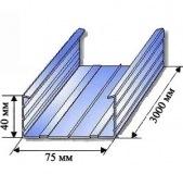 Профиль направляющий Тиги-Кнауф 75х40х3м
