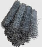 Сетка плетеная рабица черная ячейка 20х20 толщина 1.4 мм, 1.5х10м, цена за 1 рулон