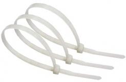 Нейлоновые кабельные стяжки белые хомуты 3х100мм (100 штук)