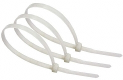 Нейлоновые кабельные стяжки белые хомуты 4х200мм (100 штук)