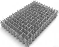Сетка в картах сварная для железобетонных конструкций, размер: 2х1м, ячейка: 110х110, толщина 4 мм