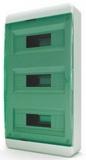 Бокс навесной Tekfor 36 модулей IP40 BNZ 40-36-1 (зеленая прозрачная дверца)
