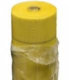 Сетка стеклотканевая для фасадных работ ЖЁЛТАЯ 5х5 мм, 145г/м2 (25м2)