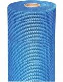 Сетка стеклотканевая для фасадных работ СИНЯЯ 5х5 мм, 160г/м2 (25м2)