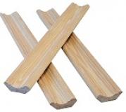 Плинтус деревянный 45 мм с сучком массив Сосна, цена за 1 м. п.