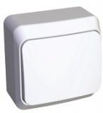 Выключатель Этюд 1 клавишный наружный белый BA10-001В