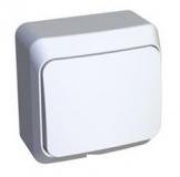 Выключатель Этюд 1 клавишный кнопочный белый KA10-001В