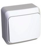 Выключатель Этюд 1 клавишный проходной белый ВА10-004В