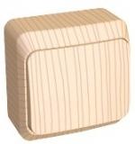 Выключатель Этюд 1 клавишный наружный сосна BA10-001D