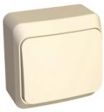 Выключатель Этюд 1 клавишный наружный бежевый BA10-004K
