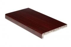 Подоконник ПВХ Россия 100 мм, цвет: Махагон / цена за 1 метр