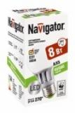 Лампа светодиодная Navigator A55-8-230-2.7k-E27 (теплый свет, 8Вт, 230В)