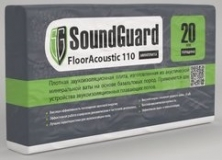 Минплита под стяжку SoundGuard FloorAcoustic плотность 110 м3 1000х600х20 мм