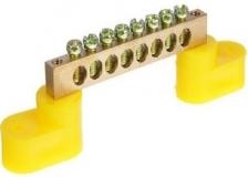 Шина нулевая на лапках 8 гнёзд (Жёлтый)