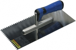 Гладилка нержавеющая зубчатая 120х280 мм