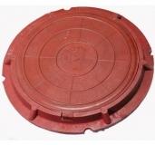 Люк полимерный 75 см Красный
