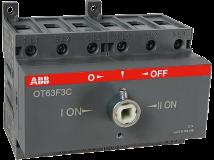 Реверсивный рубильник ABB OT63F3С 63А без ручки 3х-полюсной