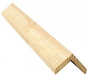 Уголок деревянный 80х80 бессучковый клееный Сосна, цена за 1 шт