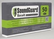 Плита звукопоглощающая SoundGuard Basalt для стен плотность 50 м3 1000х600х50 мм