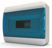 Бокс навесной Tekfor 12 модулей IP40 BNS 40-12-1 (синяя прозрачная дверца)