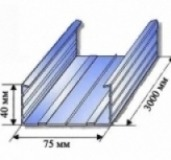 Профиль направляющий Россия 75х40х3м, 0.4 мм
