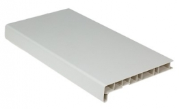Подоконник ПВХ Россия 200 мм, цвет: белый матовый / цена за 1 метр