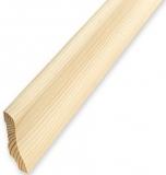 Плинтус деревянный САПОЖОК 50х15 мм бессучковый клееный Сосна, цена за 1 м. п.
