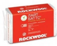 Утеплитель (каменная вата) ROCKWOOL Роквул Лайт Баттс П-35 1000х600х50 мм, 8 плит, 4.8 м2