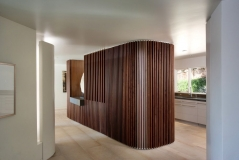 Декоративная интерьерная рейка 25х25, Термоольха, цена за 1 м. п.