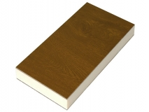 Сэндвич панель для откосов ПВХ Россия 1100х3000х10 мм, Цвет: Золотой дуб