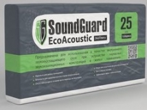 Плита звукопоглощающая ЭкоПлита SoundGuard EcoAcoustic плотность 20 м3 1000х600х25 мм